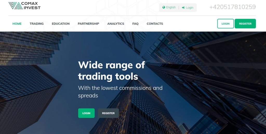 Сайт Comax Invest